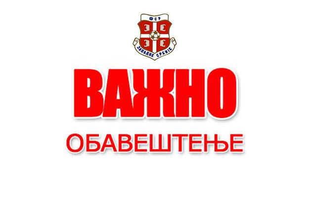Obaveštenje za sve članove FS Srbije